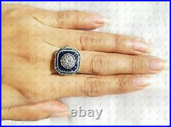 1.85 Ct Antique Vintage Round Cut Gemstone Art Deco Engagement Ring Silver