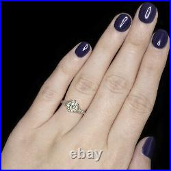 1.90ct VS2 OLD EUROPEAN CUT DIAMOND ENGAGEMENT RING ART DECO VINTAGE SOLITAIRE