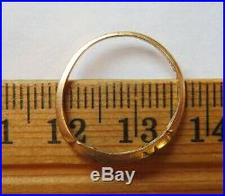 14k Antique Vintage Art Deco Diamond Engagement Wedding Anniversary Ring Band