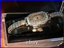 14k white gold antique art deco ladies diamond watch