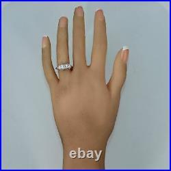 1920's Antique Art Deco 14k White Gold 0.27ctw Diamond Band Ring