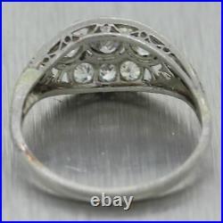 1920's Antique Art Deco Platinum 0.75ctw Diamond Ring