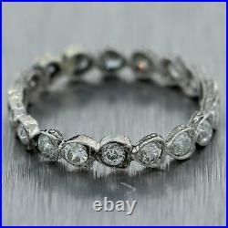 1920's Antique Art Deco Platinum 1.00ctw Diamond Wedding Band Ring
