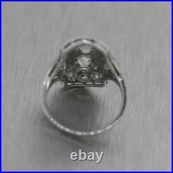 1920's Antique Art Deco Platinum 1.50ctw Diamond Ring