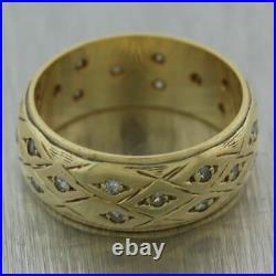 1930's Antique Art Deco 14k Yellow Gold 0.25ctw Diamond Wedding Band Ring