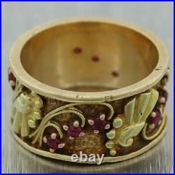 1930's Antique Art Deco 14k Yellow Gold 0.50ctw Ruby Ring