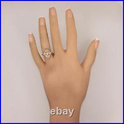 1930's Antique Art Deco 14k Yellow & White Gold 0.15ct Diamond Ring