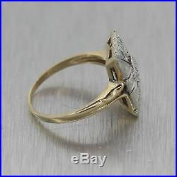 1930's Antique Art Deco 14k Yellow & White Gold 0.20ctw Diamond Filigree Ring