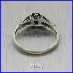 1930's Antique Art Deco 18k White Gold 0.14ctw Diamond Ring
