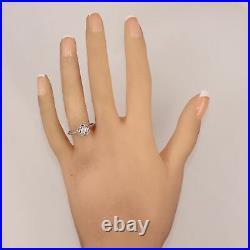 1930's Antique Art Deco 18k White Gold 0.15ct Diamond Filigree Ring