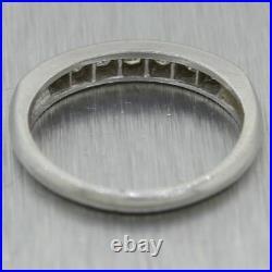 1930's Antique Art Deco Platinum 0.35ctw Diamond Band Ring