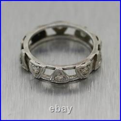 1930's Antique Art Deco Platinum 0.50ctw Diamond Band Ring