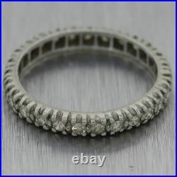 1930's Antique Art Deco Platinum 0.50ctw Diamond Eternity Wedding Band Ring