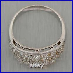 1930's Antique Art Deco Platinum 1ctw Diamond Band Rings