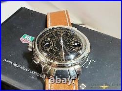 1930's Vintage Rare HEUER Ref 2403 Monopusher Chronograph Watch Fancy Lugs 351