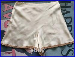 1930's silk satin and lace tap pants Small