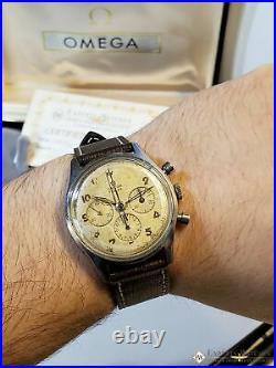1950 Vintage Omega Turler Chronograph Cal 321 Ref 174 2451 Pre SpeedMaster Watch