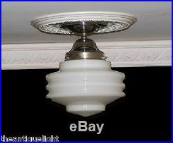 308 Vintage Ceiling Light Lamp Fixture Glass Re-Wired 5 tiered 1 of 3