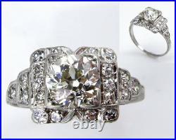 4Ct Round Cut Diamond Edwardian Vintage Antique Women Ring 14K White Gold Finish