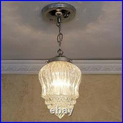 528b Vintage Ceiling Light Lamp Fixture Glass Fixture Porch Hall Bath