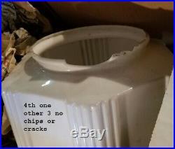 958 Vintage aRT DEco 40's Ceiling Light Lamp Fixture Glass bath ANTIQUE 1 of 3