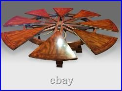 Amazing Bespoke CMC Jupe Circular Sunburst Flame mahogany dining table range