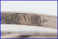 Antique 1930s ART DECO 6ct Grey Blue Star Sapphire Platinum Filigree Ring
