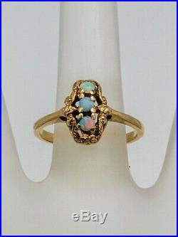 Antique 1930s ART DECO. 75ct Natural AAA+++ OPAL 14k Yellow Gold Ring