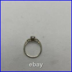 Antique Art Deco 14k white gold European cut 0.31ctw VS diamond engagement ring