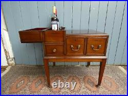 Antique Art Deco 1920's Unusual Mahogany Drink Cocktail Cabinet Table Cellarette