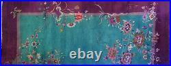 Antique Art Deco 1930s Art Nouveau Rug Chinese Oriental Carpet 9.11 x 11.7