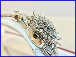 Antique Art Deco Ladies 14K White Gold & Diamond Flip Top Watch 2.5CT