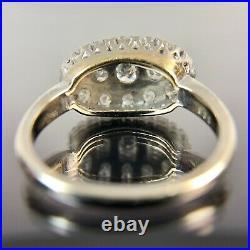 Antique Art Deco Platnium Cluster Diamond Ring Band, Size-6, TCW-0.74