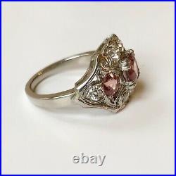 Antique Art Deco Sapphire Diamond Palladium Ring