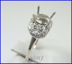 Antique Art Deco Vintage Setting Mounting Platinum Hold 6-8.5MM Rg Sz 5.75 UK-L