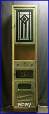 Antique Jadeite Green Art Deco Cabinet Cupboard Barber Shop Vtg Bathroom 195-19J