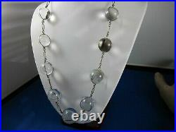 Antique Rock Crystal Undrilled Art Deco Fine Orb Necklace- Pools of Light
