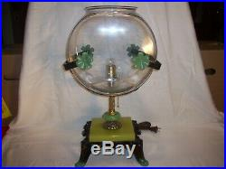 Antique Vintage Fish Bowl Tank Aquarium Art Deco Light Houze Glass