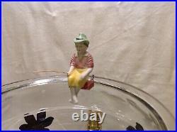 Antique Vintage Fish Bowl Tank Aquarium Holder Light Art Deco Houze Glass
