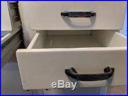 Antique Vintage Hamilton Style Art Deco Metal Dental / Medical Cabinet 60tall