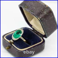Art Deco 18k gold and Platinum Diamond Ring