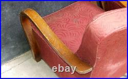 Art Deco Armchairs. Club Cocktail Chairs. 1920 Vintage Antique Halabala