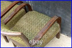 Art Deco Armchairs. Club Cocktail Chairs. For Repair. Halabala Vintage Antique