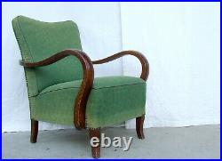Art Deco Armchairs Pair of Club Cocktail Chairs. 1920s Vintage Antique Halabala