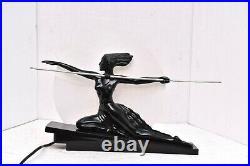 Art Deco Nouveau Female Woman Nude Warrior W Spear Lamp light Vintage 17