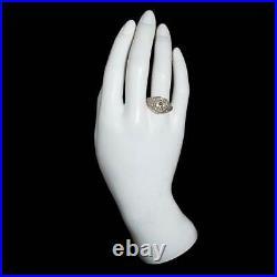 Art Deco Vintage 4.50ct Round Diamond 925 Sterling Silver Antique Wedding Ring