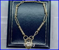 Art Deco Vintage Jewelry Bracelet with Heart Padlock Antique Jewellery