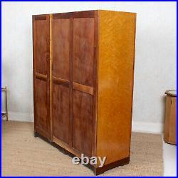 Art Deco Wardrobe Birdseye Maple Compactum Armoire Vintage