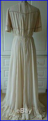 Christian Dior Demi Couture Vintage Silk Dress And Jacket Size Uk 8/10