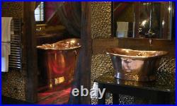 Copper Bathtub sink Countertop vanity Sink- Vintage Bath Basin Bathroom